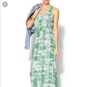Parker silk green & white maxi dress-Hard to find!